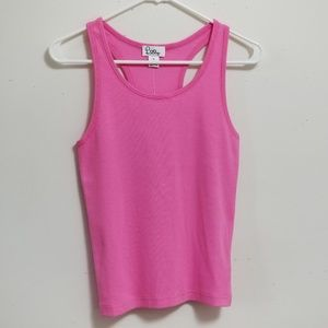 Lilly Pulitzer Hibiscus Pink Beach Tank Top Size L